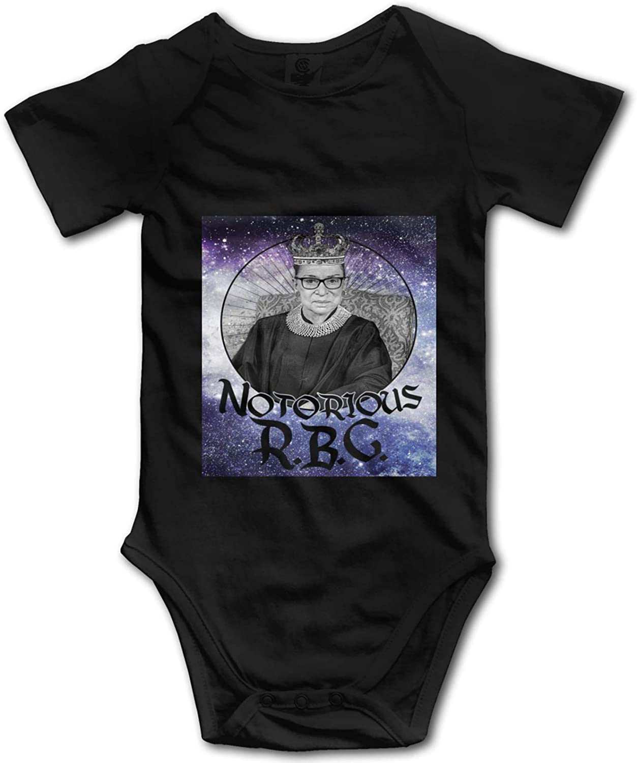 Baby Onesies 2 Pcs Notorious RBG Crown Newborn Birthday Gifts for Mom, Dad, Wife, Husband