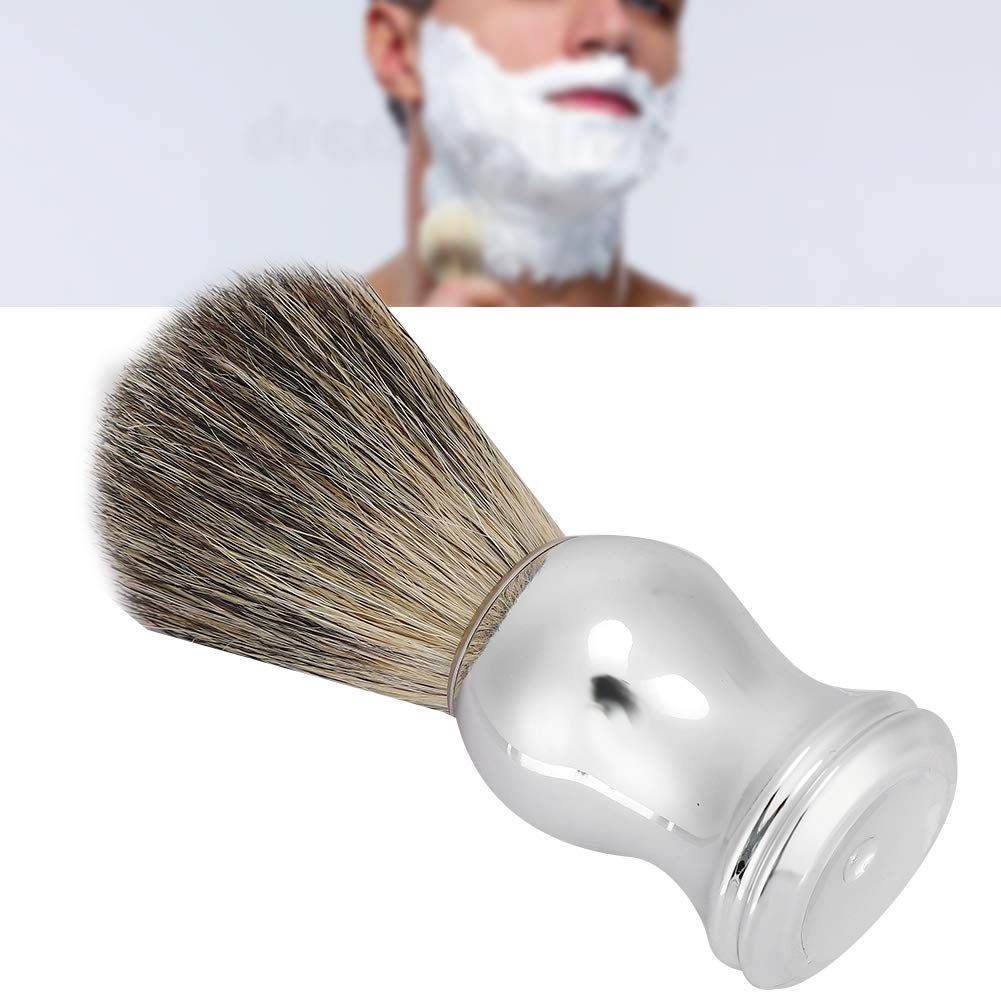 Beard Shaving Brush, Men Portable Beard Brush Salon Facial Cleaning Foaming Shaving Brush Shaving Brush with Stand Shave Care Grooming Tool for Men