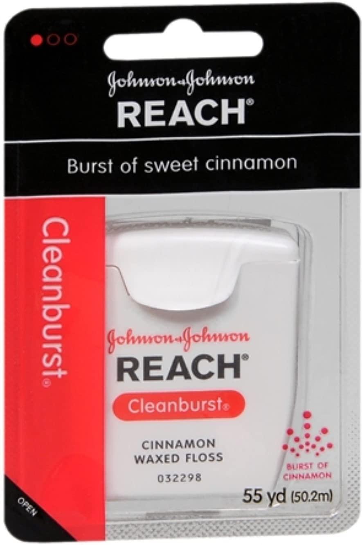 REACH Cleanburst Waxed Floss Cinnamon 55 Yards (Pack of 5)