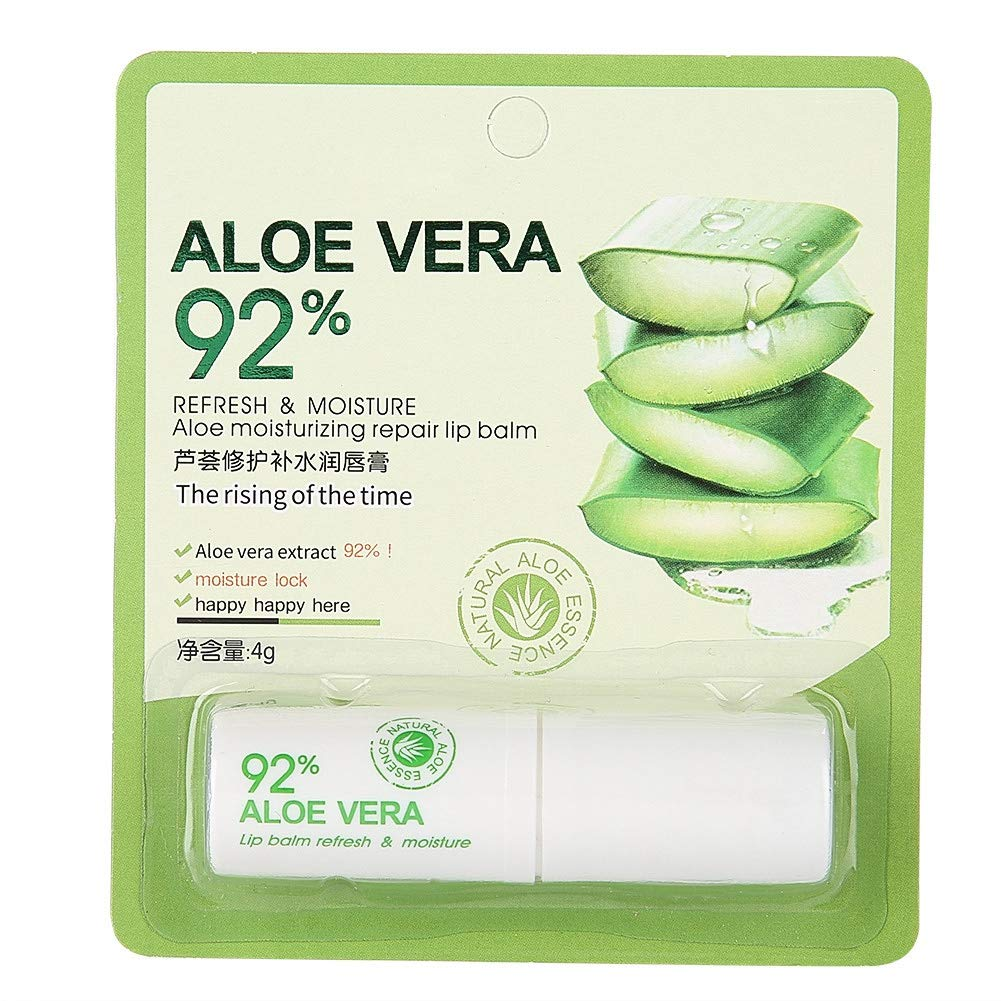 4g Aloe Extract Lip Balm, Moisturizing Nourishing Lip Balm Lipstick Lip Gloss Beauty Makeup Tool Lip Care for Winter Autumn