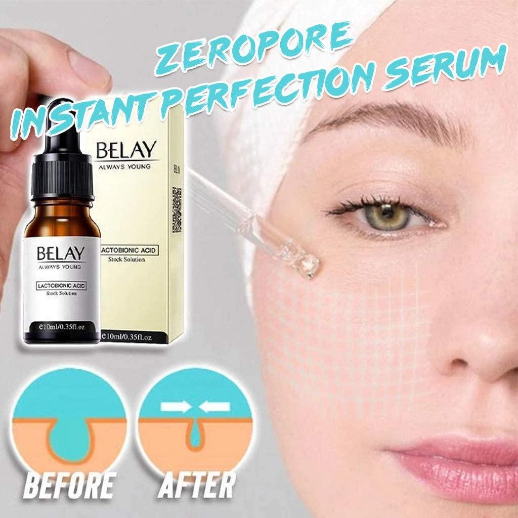 Zero Pore Instant Perfection Serum, Pore Corset Serum, Anti-Aging Exfoliating Essence, Minimize Pore Size, Nourishes & Moisturize, Poreless Skin Tightening Anti Aging Serum For All Skin Types