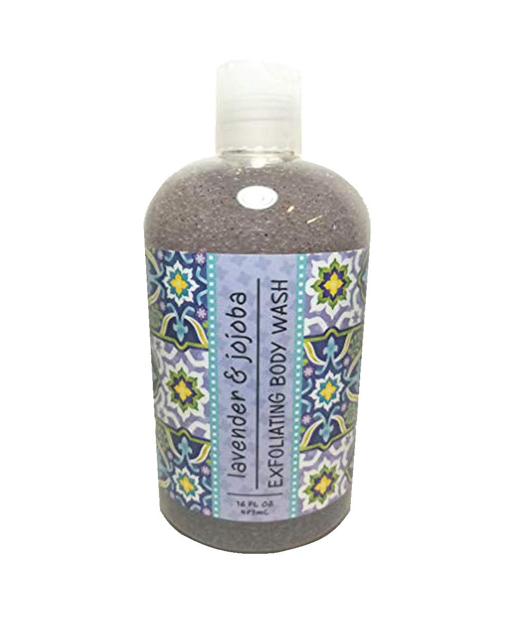 Greenwich Bay Exfoliating Body Wash, Enriched with Shea Butter, Blended with Loofah and Apricot Seed 16 oz (Lavender & Jojoba)