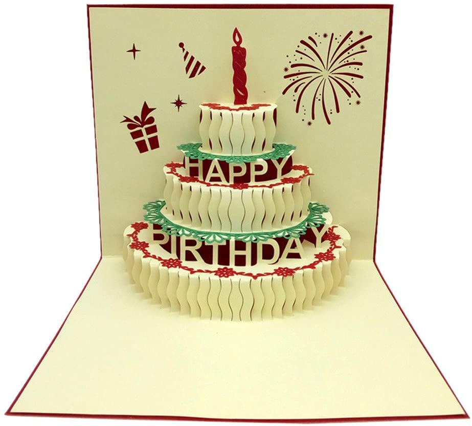 3D Pop Up Cards Valentine Lover Happy Birthday Anniversary Greeting Cards, Christmas Holiday Party Decoration Blouses Tops