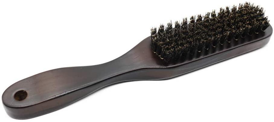 Kiorc Men Shaving Brush Best Horsehair Shave Wood Handle Razor Barber Tool for Eyeshadow, Eyebrow, Eyeliner, Blending