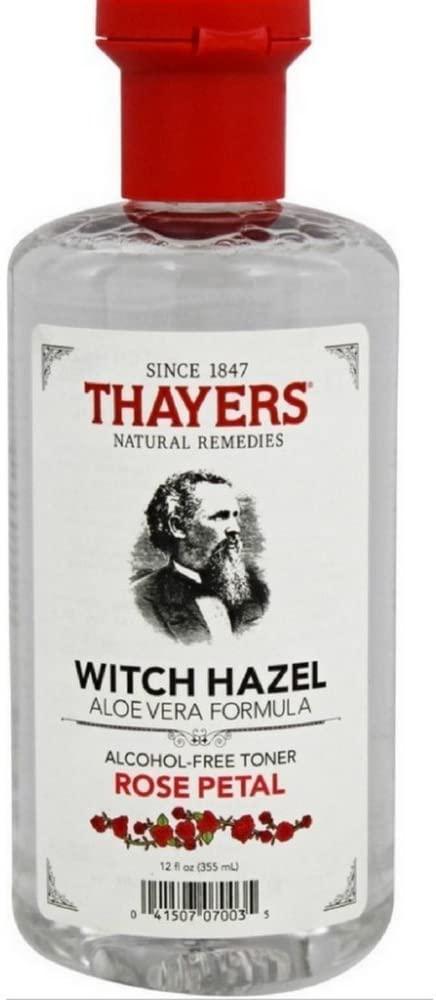 Thayers Alcohol-Free Rose Petal Witch Hazel Toner, 12 Fl Oz (Pack of 6)