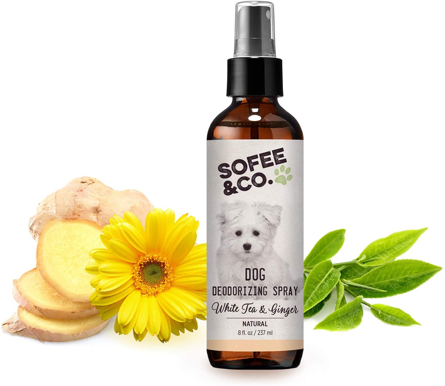 Sofee & Co. Natural Dog Puppy Deodorizing Grooming Spray Perfume Cologne - Odor Control Refresher. Groomer's Choice. Freshen Coats. Eliminate Odors. Use On Pets Bedding Furniture Room. Deodorant