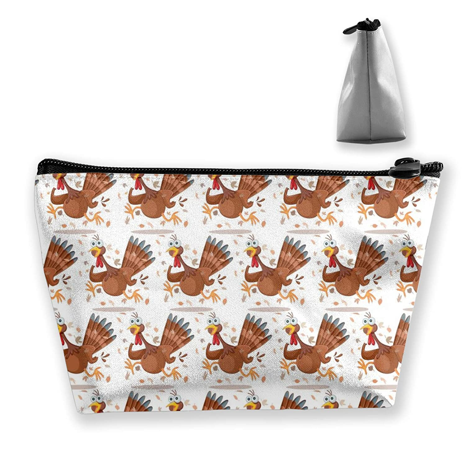 Cute Funny Turkey Pattern (24) Storage Bag Holder Portable Gift For Girls Women Large Capacity Cosmetic Train Case For Makeup Brushes Jewelry Casual Tote Bag