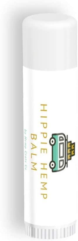 Hippie Hemp Balm Chapstick (3-Pack) All-Natural Hemp Seed Oil Lip Balm (Spearmint)