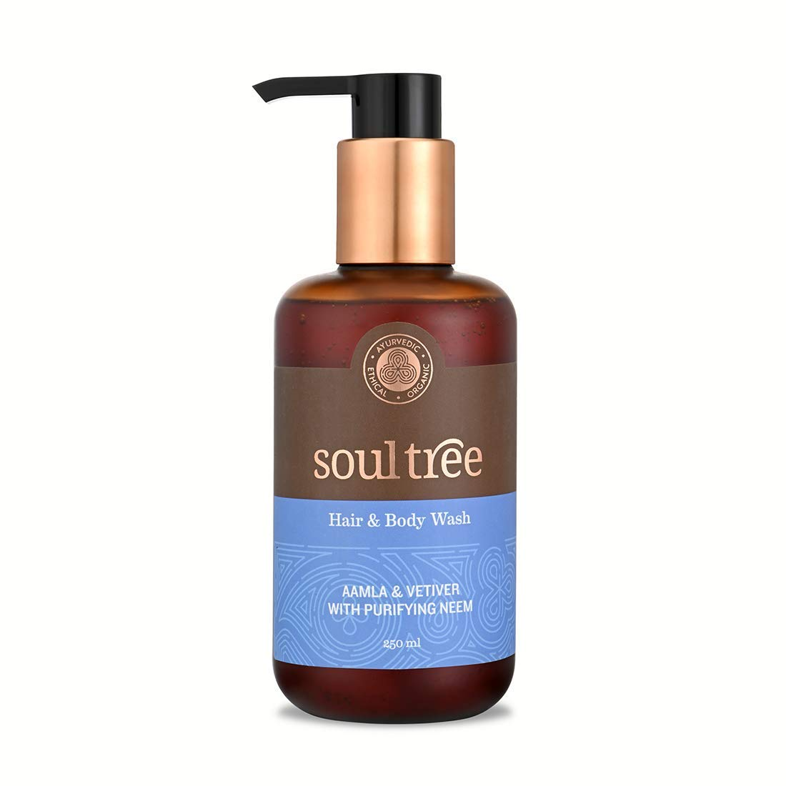 SOULTREE Hair & Body Wash For Men and Women | 100% Natural & Vegetarian Body Wash/Shower Gel With Aamla and Vetiver with purifying Neem