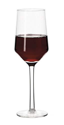 G.E.T. Enterprises Clear 10oz. Wine Glass Polycarbonate Via Collection SW-1463-PC-CL (Pack of 12)