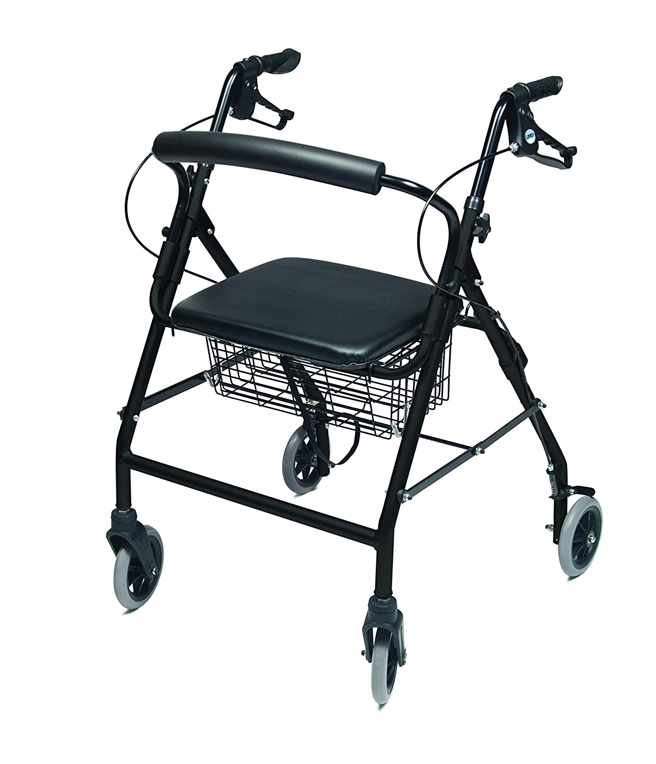 Lumex Walkabout Wide Rollator with Seat - Wide 15.5