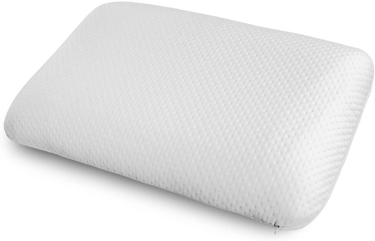 Ambesonne Shredded Visco Pillow for Neck Problems, Padding for Health Stiff Neck and Back Orthopedic with Adjustable Thickness with Removable Pillowcover, 30