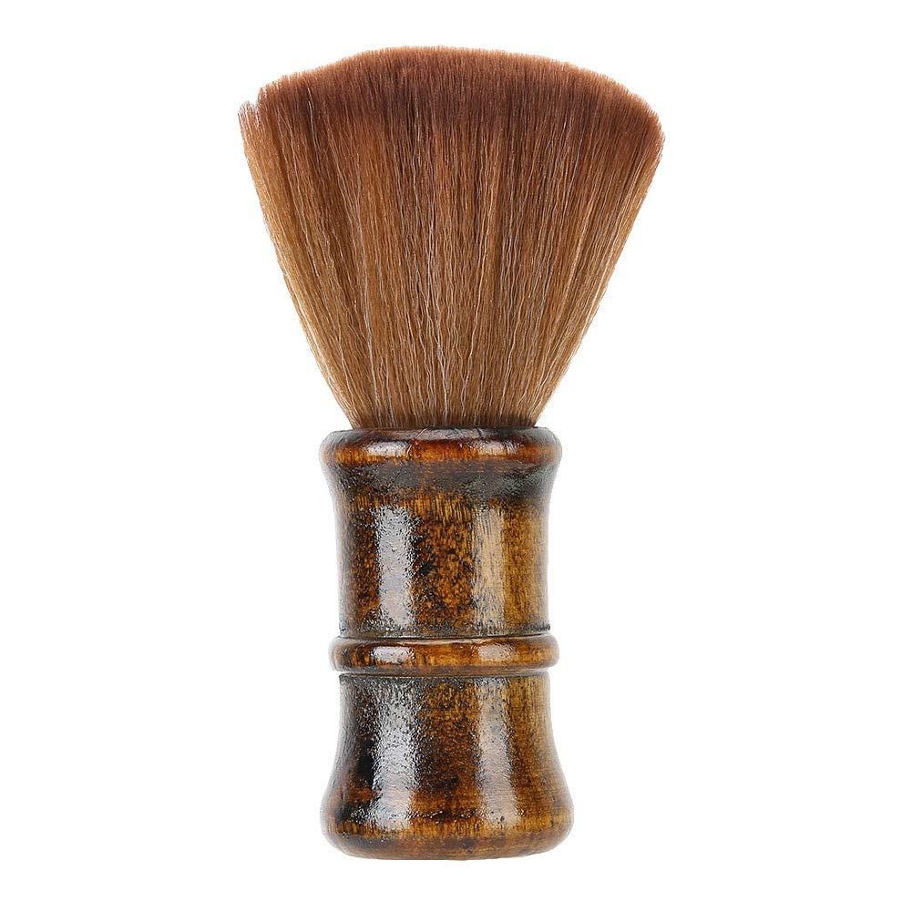 Face Duster Wooden Handle Broken Hair Sweep Brush Hair Removal Brush, Hairbrush, for Barber Salon Stylist