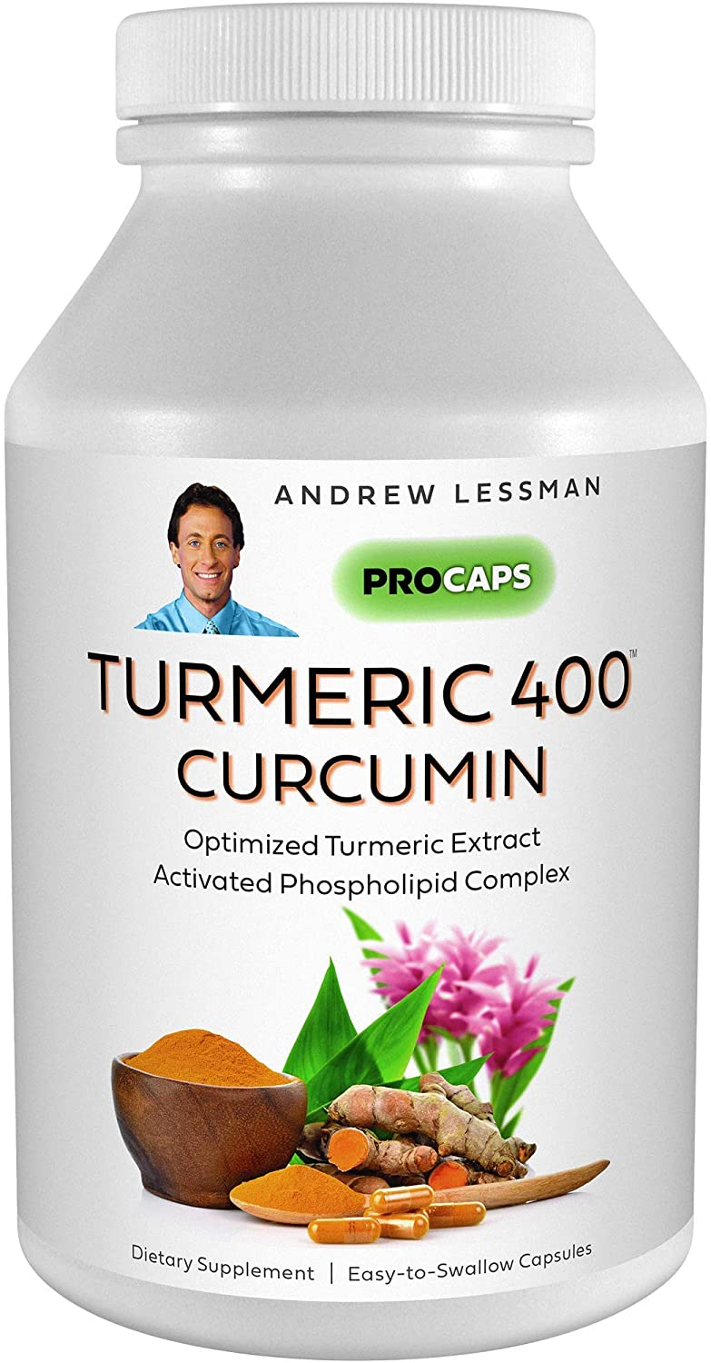 Andrew Lessman Turmeric 400-30 Capsules – 95% Curcuminoids as Phospholipid Complex for Optimum Benefits and Greater Absorption, High Potency Standardized Extract, Small Easy to Swallow Capsules