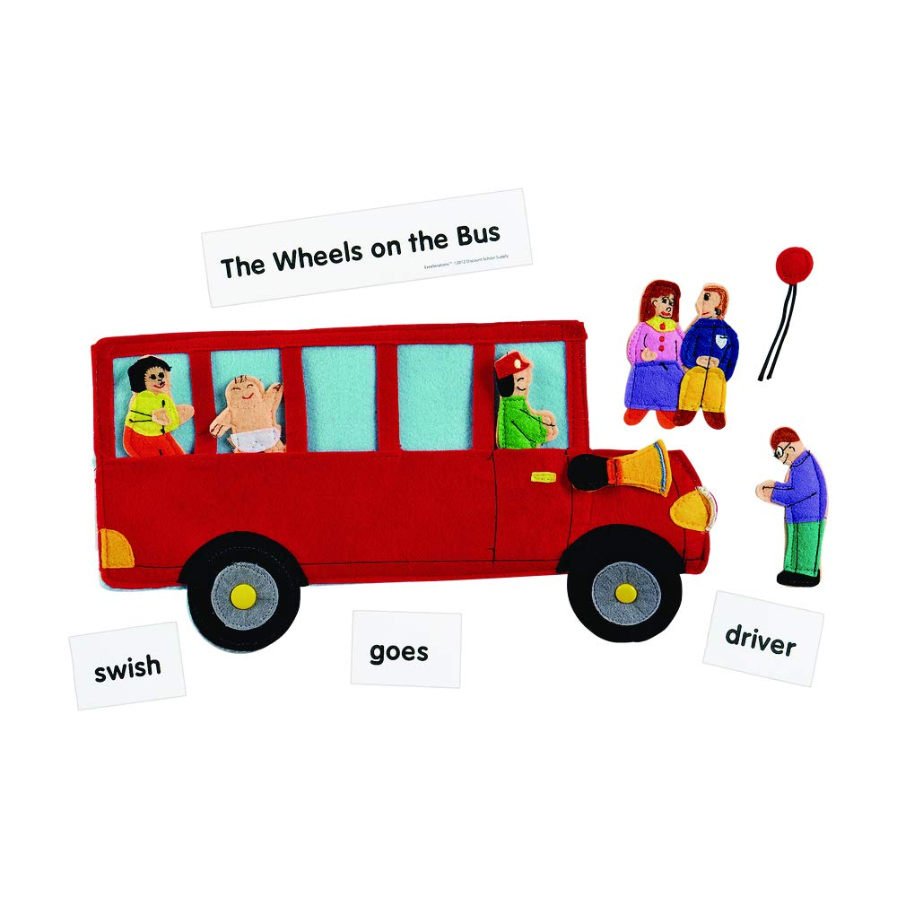 Excellerations Wheels on The Bus Felt Story Pieces, Early Language, Story Telling, Retelling Stories, Educational Toy, Preschool, Kids Toys