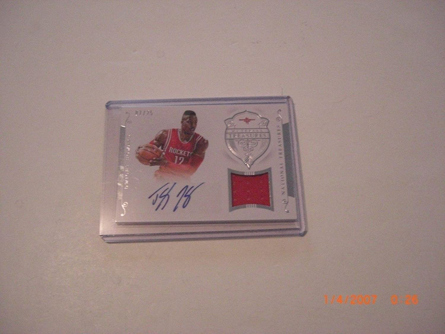 Dwight Howard 2015 National Treasures Game Used Jersey Auto 7/25 Signed Card - Basketball Autographed Game Used Cards