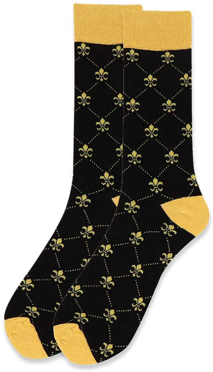 Novelty Dress Socks for Men - Dress Sock - Premium Cotton - Size 8-13 (One Pair)