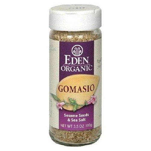 Eden Foods Organic Salt Gomasio Sesame Seeds and Sea Salt, 3.5 ounces pack of 2