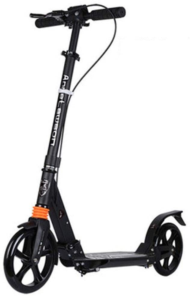 YYIN Scooter for Kids and Adults Lightweight Easy Folding with Shock Absorbers Smooth,Fast Ride, Non-Electric