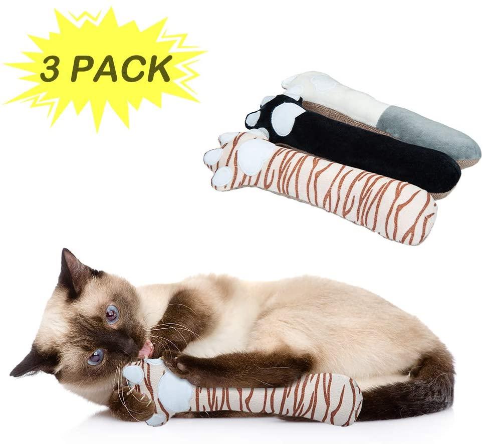 Dono Catnip Kicker Cat Toys - Set of 3 Cat Kickers Indoor Kitten Chews Teeth Grinding Toys Pillow for Cats Pets Supplies