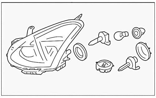 Nissan Genuine Parts 26060-1VK1A Driver Side Headlamp Assembly