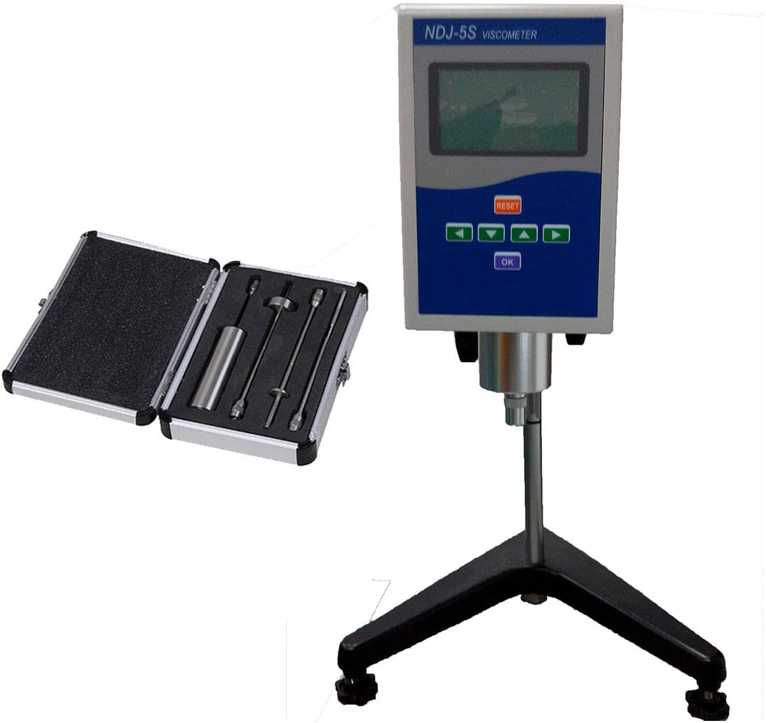 Liquid Viscosity Meter Rotary Viscometer Tester with RS232 Interface and Temperature Sensor Range 1 to 1×100000 mPa.s