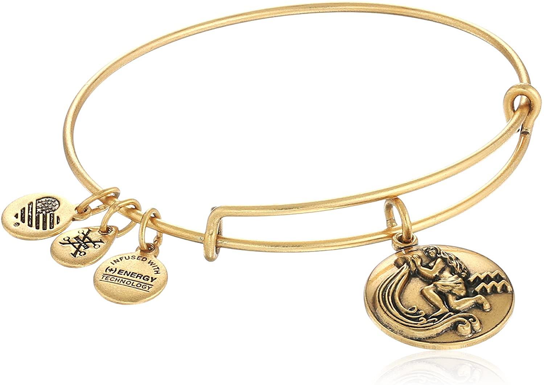 Alex and Ani Zodiac II Expandable Wire Bangle Bracelet