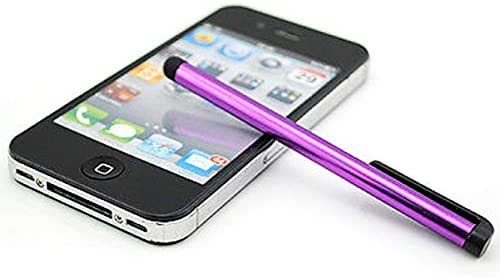 5pack Purple Universal Small Touch Stylus Metal Pen for Mobile Phone Cell Smart Phone Tablet iPad iPhone (Purple)