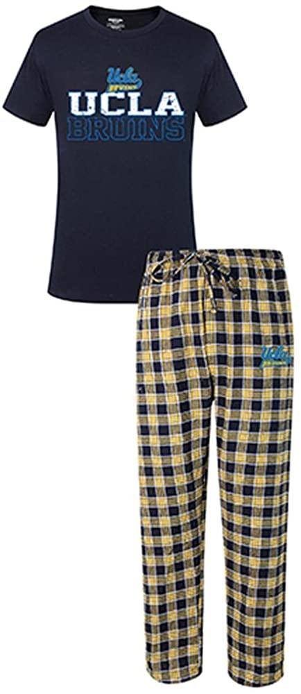 Concepts Sport NCAA UCLA Bruins Men's Shirt and Pajama Pants Flannel PJ Sleep Set