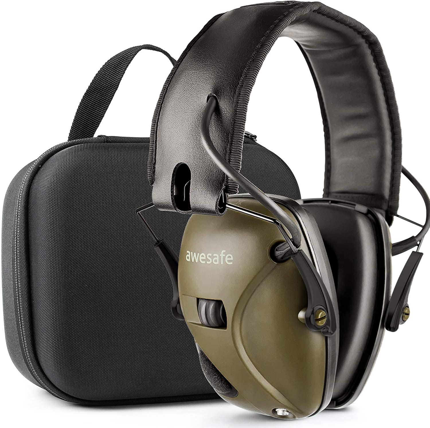 awesafeus Shooting earmuffs Ear Protection with Storage Case