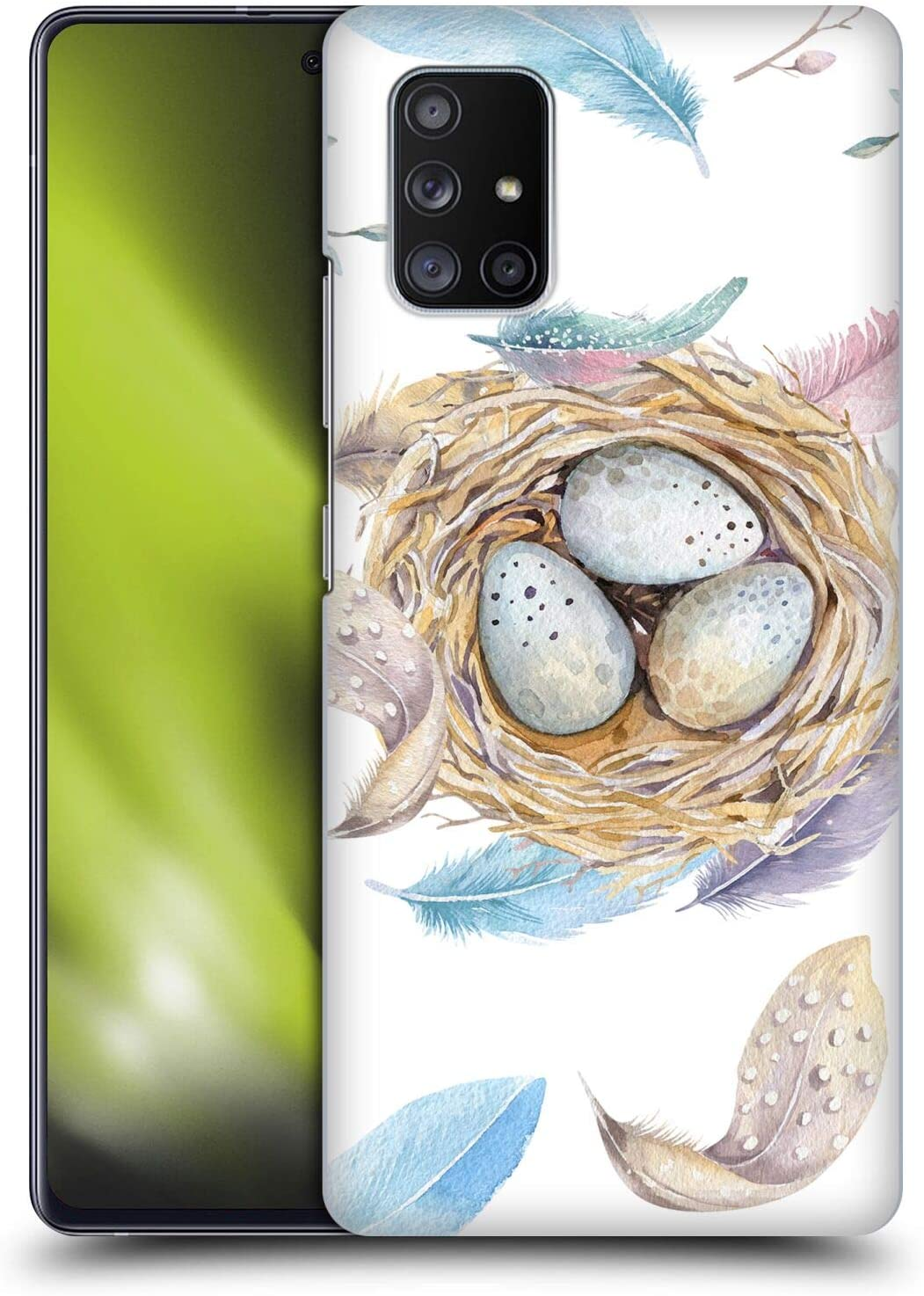 Head Case Designs Officially Licensed Kristina Kvilis Nest Birds Hard Back Case Compatible with Samsung Galaxy A51 5G (2020)