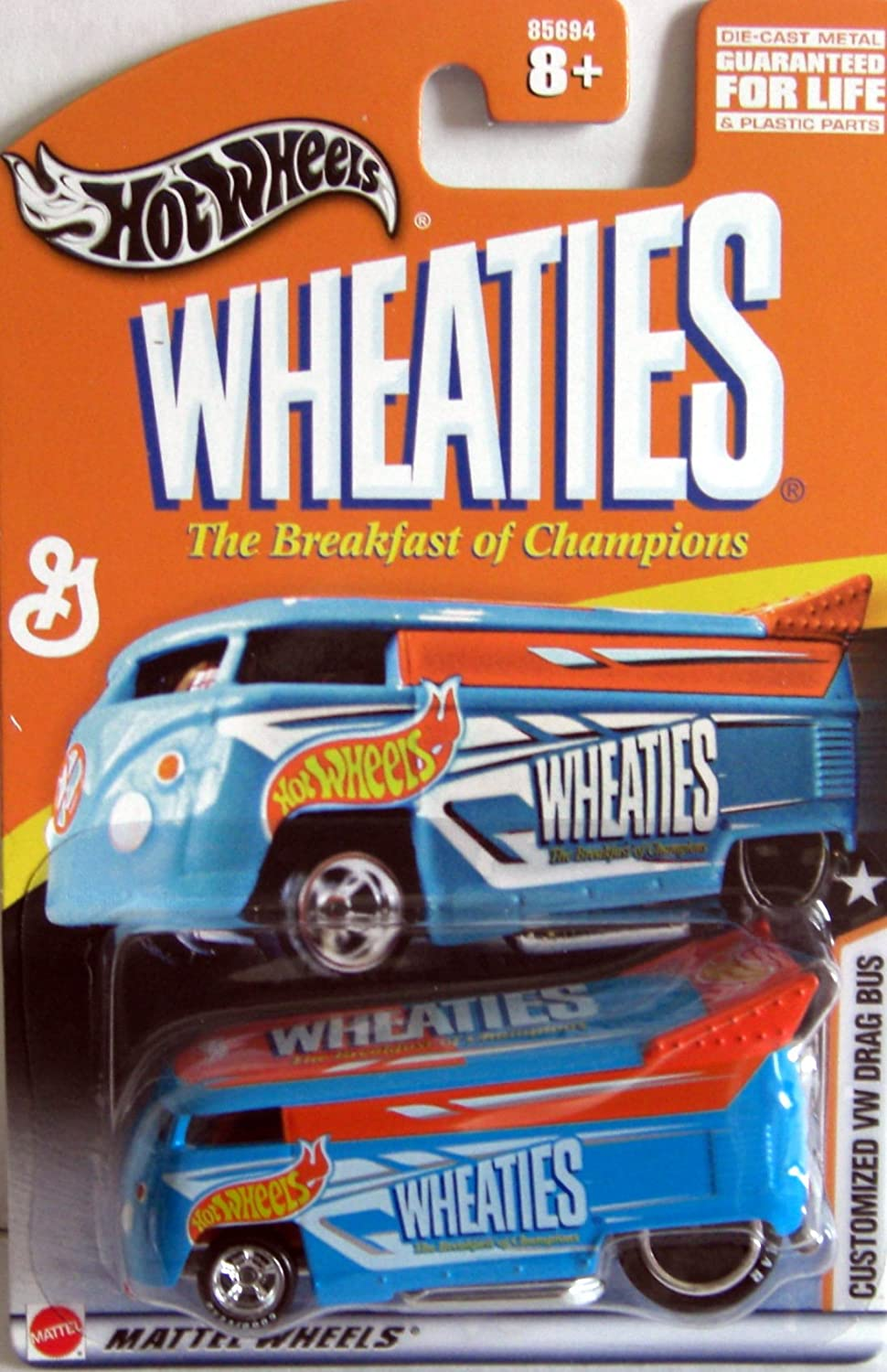 HOT Wheels Wheaties Customized Vw Drag Bus