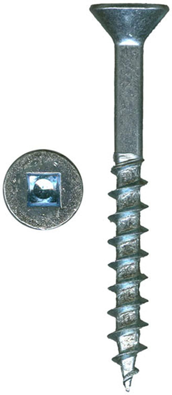 8 x 1 HighPoint XT Square Drive Woodworking Screws, Flat Head, Clear Zinc, 100 pc