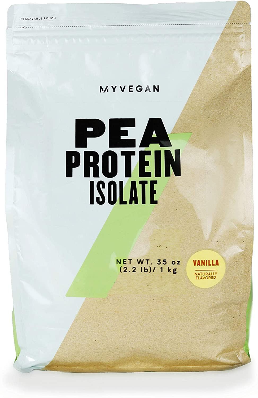 Myprotein® MYVEGAN Pea Protein Isolate Powder, Vanilla Stevia, 2.2 Lb (35 Servings)