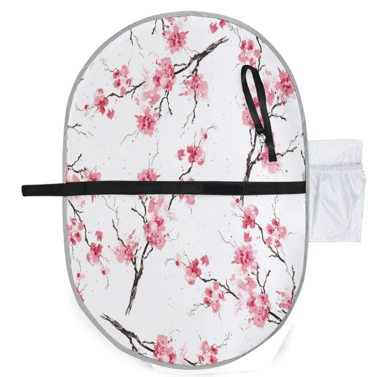 ZZXXB Plum Blossom Baby Portable Changing Pad Waterproof Diaper Change Mat Large for Infant Quick Change