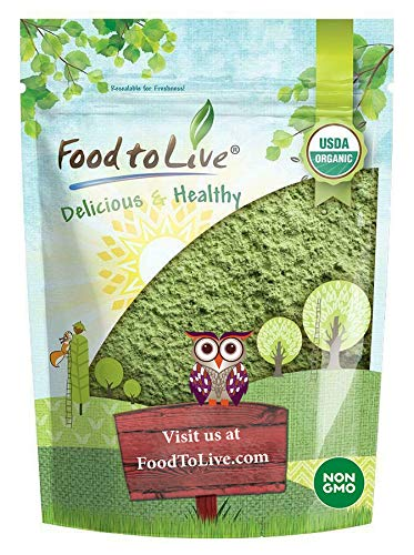 Organic Wheatgrass Powder, 2 Pounds — Non-GMO, Whole-Leaf, Raw, Non-Irradiated, Pure, Vegan Superfood, Bulk, Great for Juice, Rich in Fiber, Chlorophyll, Fatty Acids and Minerals