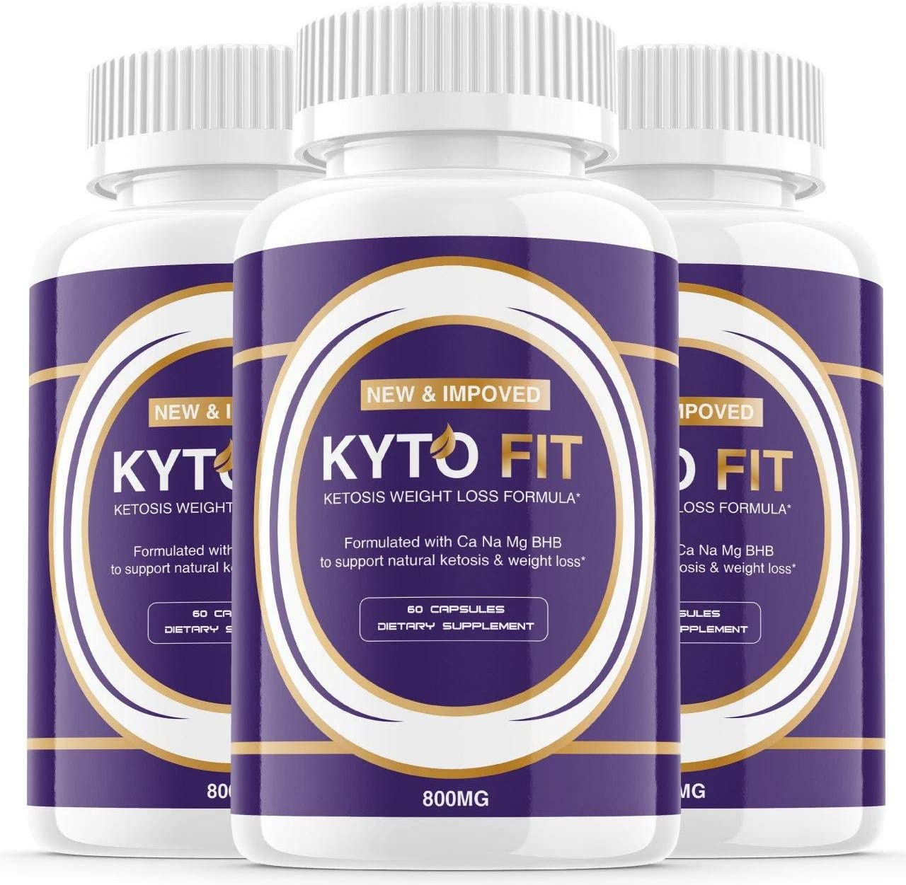 (3 Pack) Kyto Fit Pills 800mg, Kyto Fit Diet Pills Capsules BHB Supplement, Complete Ketogenic Diet for Beginners, BHB Ketones Slim Pills for Energy, Focus for Men Women (180 Capsules)