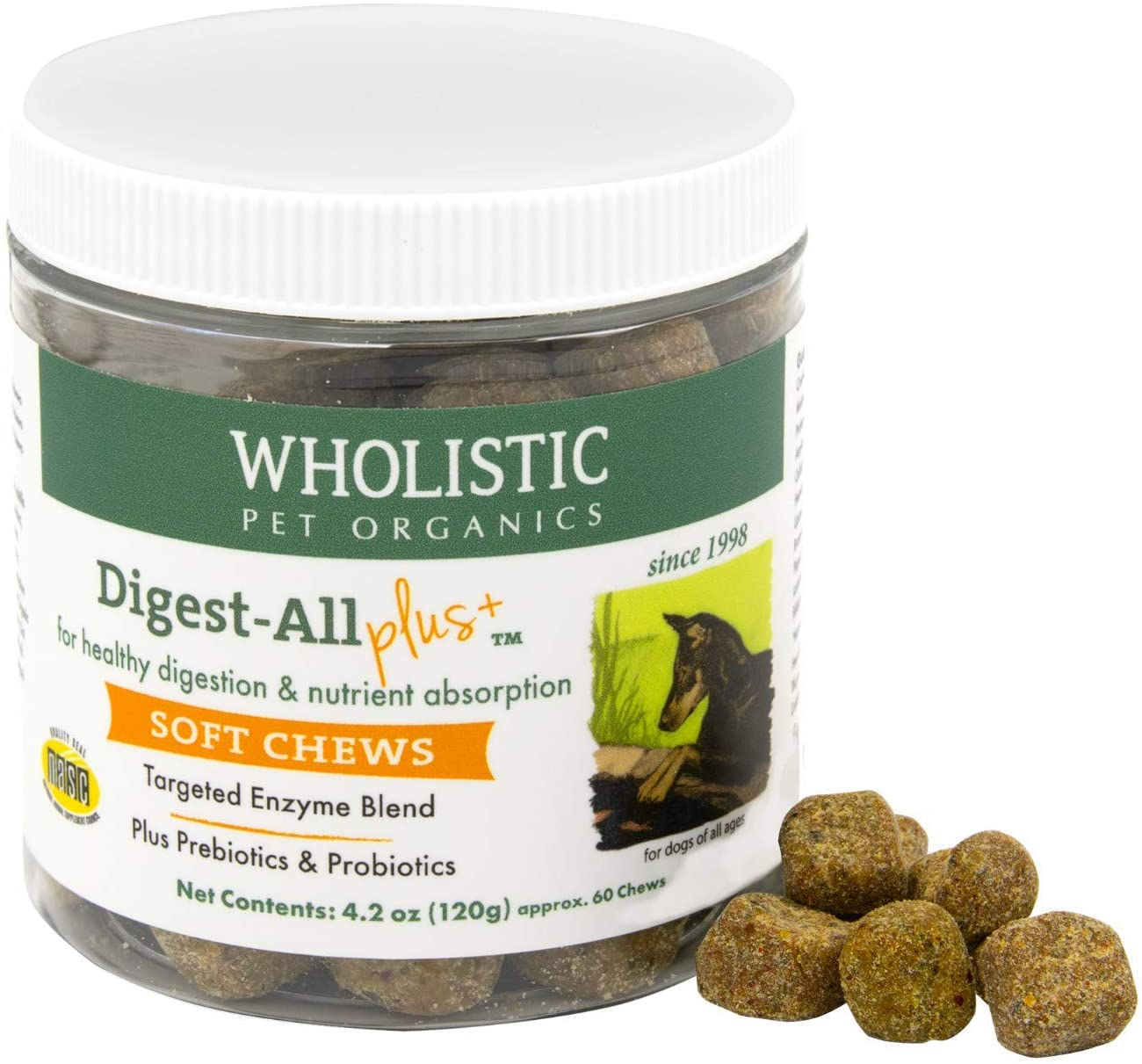 Wholistic Pet Organics Digest-All Plus Soft Chews Supplement