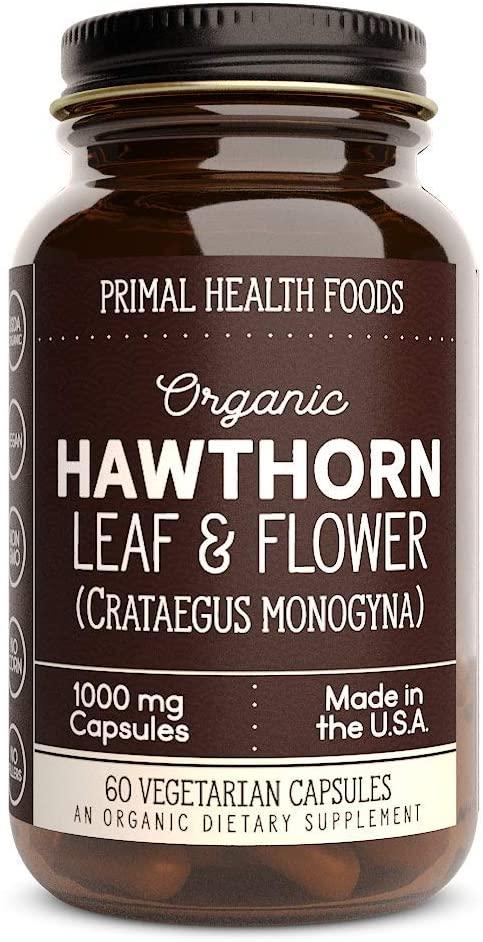 Primal Health Foods | Organic Hawthorn Leaf & Flower | 1,000 mg Vegetarian Capsules