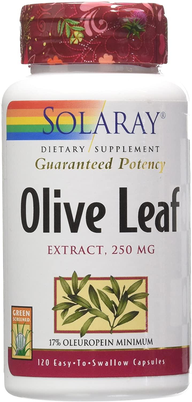 Solaray Guaranteed Potency Olive Leaf Extract, Veg Cap (Btl-Plastic) 250mg   120ct