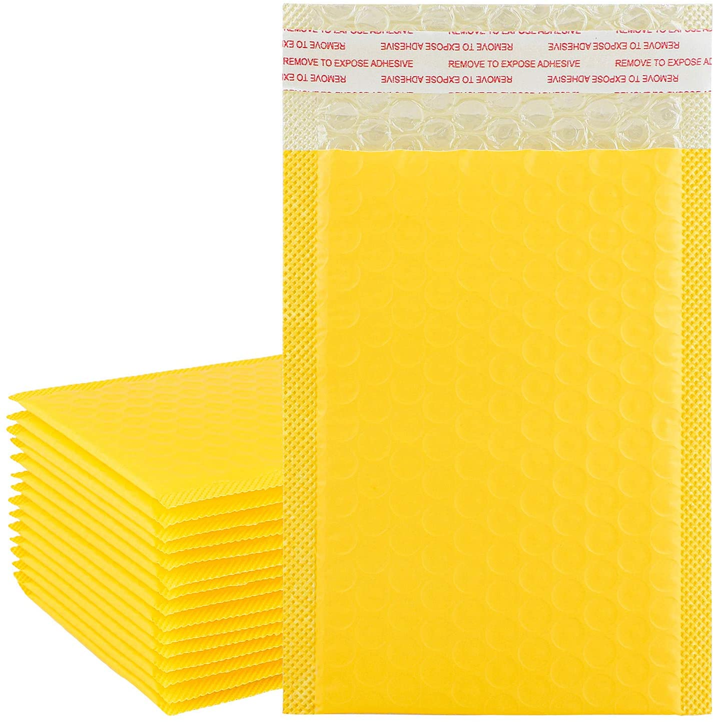 ADXCO 16 Pack Bubble Mailers Bubble Envelopes Self Seal Padded Envelopes Waterproof Bubble Bags for Promotions or and Alternative to Gift wrap (Yellow,13 x 18 cm)