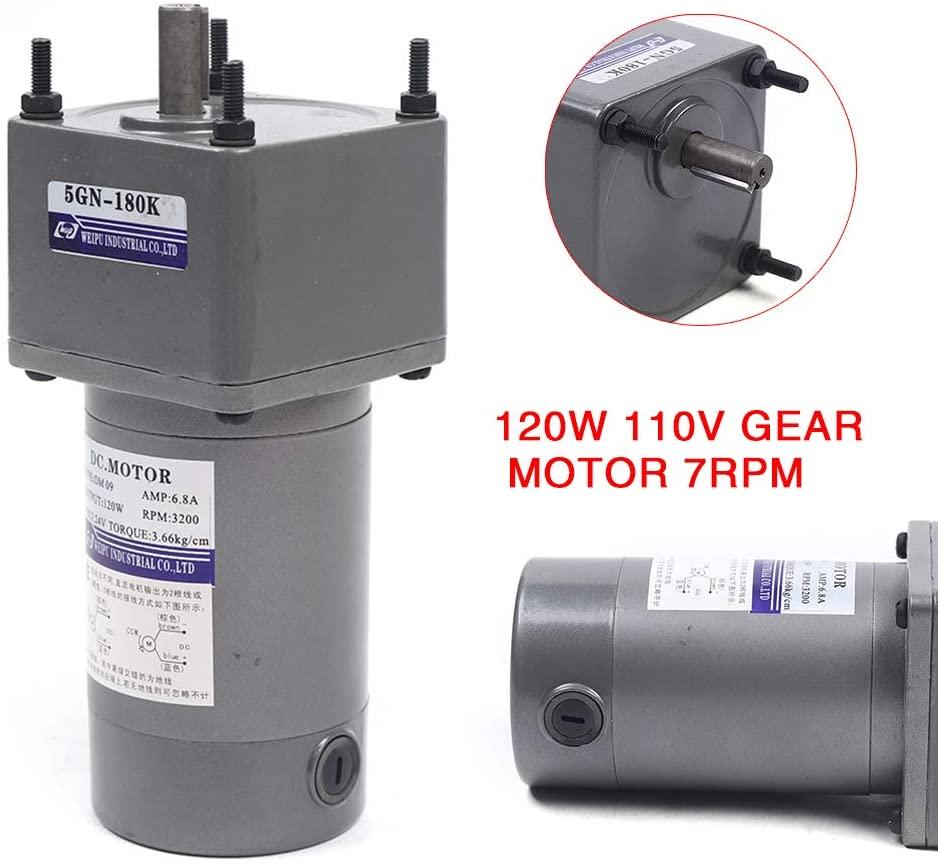 AC Gear Motor 120W 24V Gear Motor Electric Motor 1:180 17RPM
