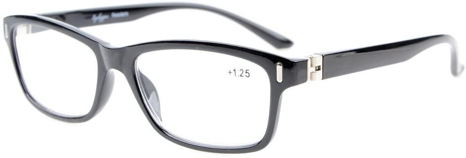 Eyekepper Unique 180 Degree Spring Hinges Mens Womens Reading Glasses Black +1.0