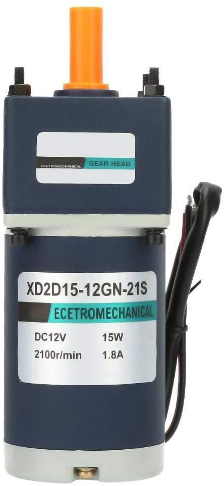 Beennex 12V/15W Electric Permanent Magnet DC Gear Motor 1800/2100RPM Reduction Geared Motor(#7)