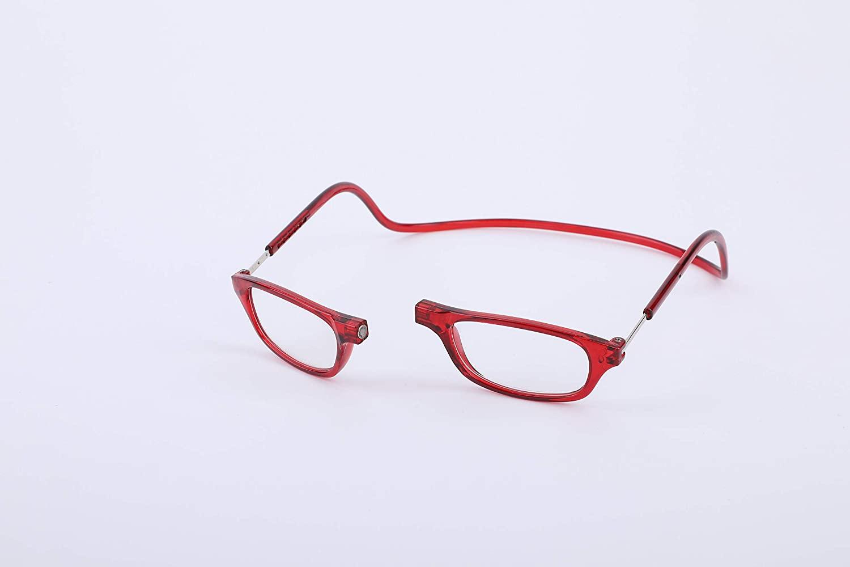 Eyewear Reading Glasses, Hang Neck Presbyopic Reading Glasses Unisex Adjustable Red (+1.5)
