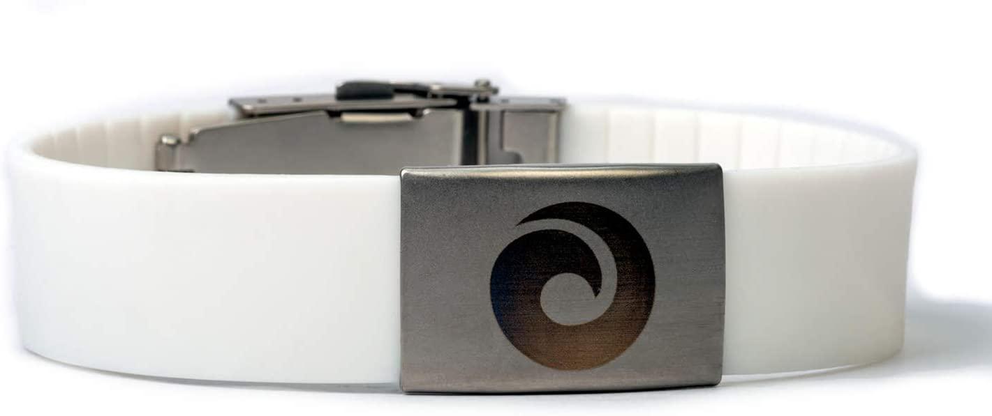 EMF Harmonizer Mobility Wrist Band – Whole Body EMF Protection on The Go – Proven European Technology from EMF Harmony (White)