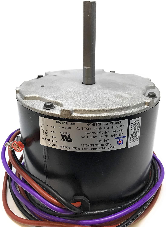 A4141, Goodman condenser fan motor 0131M00018P, 1/4HP, 1100RPM