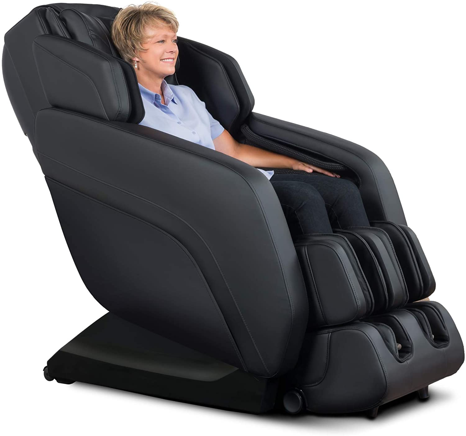 RELAXONCHAIR [MK-V Plus] Full Body Zero Gravity Shiatsu Massage Chair with Built-in Heat and Air Massage System (Black)