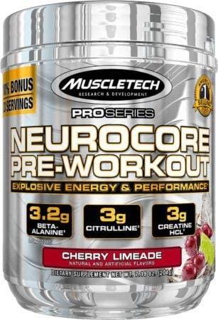 MuscleTech Neurocore, Explosive Pre Workout, Cherry Limeade, 33 Servings, 7.19 Ounce