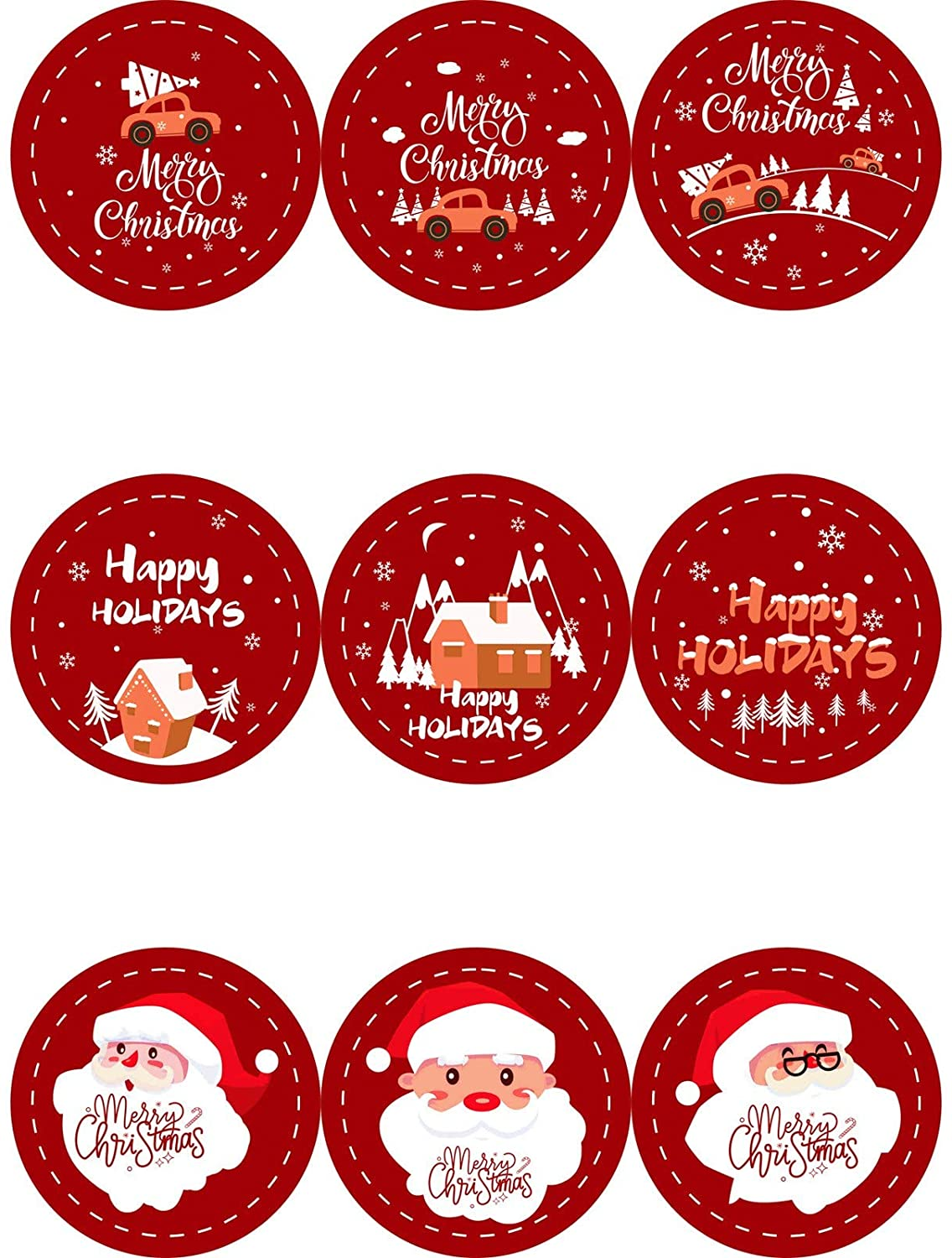 Simayixx Christmas Sticker Labels,(32/36 Count) Self Adhesive Gift Stickers Name Decals for Presents/Wrapping Paper Decorations